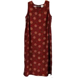 Sag Harbor Burgundy Floral Sheath Dress Size 18W